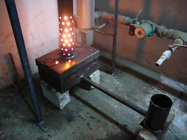 Печки на отработке в гараже